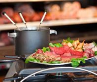 Gourmet & fondue zijn al jaren niet meer weg te denken uit het assortiment.